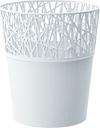 Osłonka z koronkowym wykończeniem, ażurowa City - 11,5 cm - biała