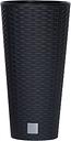 Doniczka okrągła wysoka + wkład - Rato tubus - 20 cm - antracyt