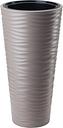 Doniczka okrągła wysoka Sahara Slim - mrozoodporna - 30 cm - szarobeżowa