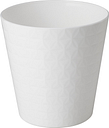 Osłonka okrągła Diament petit - 15 cm - biały