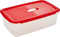 Pojemnik prostokątny na żywność - 3 litry - Micro-Clip - czerwony