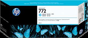 HP 772 300-ml Light Cyan DesignJet Ink Cartridge, CN632A