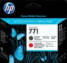 HP 771 Matte Black/Chromatic Red DesignJet Printhead, CE017A