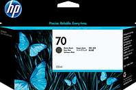HP 70 130-ml Matte Black DesignJet Ink Cartridge, C9448A