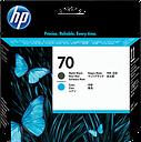 HP 70 Matte Black and Cyan DesignJet Printhead, C9404A