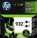 HP 932 2-pack Black Original Ink Cartridges, L0S27AN#140