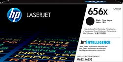 HP 656X High Yield Black Original LaserJet Toner Cartridge, CF460X