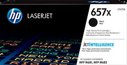 HP 657X High Yield Black Original LaserJet Toner Cartridge, CF470X