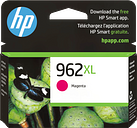 HP 962XL High Yield Magenta Original Ink Cartridge, 3JA01AN#140