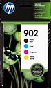HP 902 4-pack Black/Cyan/Magenta/Yellow Original Ink Cartridges, X4E05AN#140