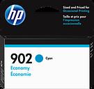 HP 902 Economy Cyan Original Ink Cartridge, 3YP80AN