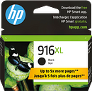 HP 916XL High Yield Black Original Ink Cartridge, 3YL66AN#140