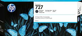 HP 727 300-ml Matte Black DesignJet Ink Cartridge, C1Q12A