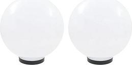 Juego de lámparas de bola LED vidaXL, 2 piezas esféricas 30 cm PMMA