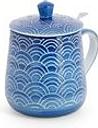 Taza de cerámica con filtro Azul