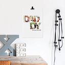 'Papá & yo' photo collage - Póster 40 x 50 cm