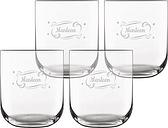 Vaso de agua personalizado - 4 piezas