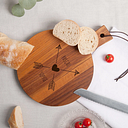 Planche à pain - Teck - Rond (S)