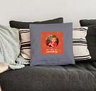 Love Throw Pillow - Medio con relleno - Gris claro