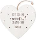 Corazón de madera personalizado - Madrina