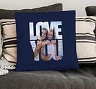 Love Throw Pillow - Medio sin relleno - Azul marino
