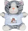 Peluche con camiseta personalizada - Gatito