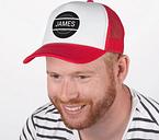 Gorro de camionero - rojo / blanco