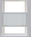 Decosol Persiana con forma de panal translúcida gris claro 60x180 cm