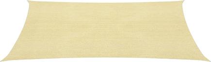 vidaXL Vela Parasole in HDPE Quadrata 2x2 m Beige