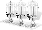 vidaXL Dispensador de zumo triple acero inoxidable 3 x 8 L