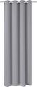 vidaXL Rideau occultant avec œillets métalliques 270 x 245 cm Gris