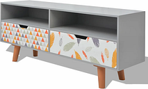 vidaXL Mueble para la televisión MDF 120x30x50 cm gris