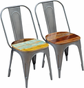 vidaXL Dining Chairs 2 pcs Solid Reclaimed Wood