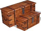 vidaXL Two Piece Storage Chest Set Solid Wood