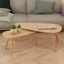 vidaXL Set de mesas de centro 2 unidades madera maciza de pino marrón