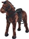 vidaXL Standing Plush Toy Horse Dark Brown XXL