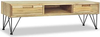 vidaXL TV Cabinet 120x35x35 cm Solid Teak