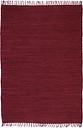 vidaXL Hand-woven Chindi Rug Cotton 160x230 cm Burgundy