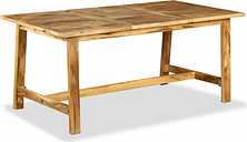 vidaXL Dining Table Solid Mango Wood 180 cm
