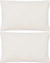 vidaXL 2-częściowy zestaw poduszek, welur, 40x60 cm, złamana biel