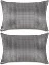vidaXL 2-częściowy zestaw poduszek z weluru w kolorze szarym 40x60 cm
