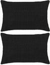 vidaXL 2-częściowy zestaw poduszek, welur, 40x60 cm, czarny