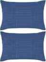 vidaXL Cojines de terciopelo 40x60 cm azul 2 unidades