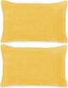 vidaXL Poduszki ozdobne, 2 szt., welur, 40x60 cm, żółty