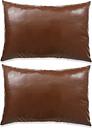 vidaXL Cojines de polieuretano marrón 40x60 cm 2 unidades