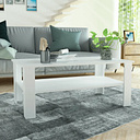 vidaXL Coffee Table Chipboard 100x59x42 cm White