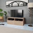 vidaXL Meuble TV Aggloméré 95 x 35 x 36 cm Chêne
