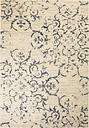 vidaXL Alfombra moderna de estampado floral beige/azul 140x200 cm