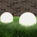 vidaXL Juego de lámparas de bola LED 2 piezas esféricas 30 cm PMMA