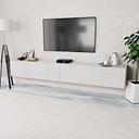 vidaXL TV Cabinets 2 pcs Chipboard 120x40x34 cm High Gloss White